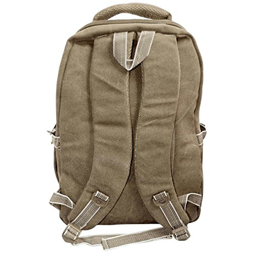 Best canvas backpack in India 2020 Bagathon India Beige Canvas Backpack with Water and Dust Cover Image 6