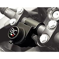 BC Battery Controller 710-P12A - Toma de Mechero/Toma Encendedor 12V Estanca con Soporte Universal para Manillar para Moto