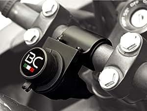 BC Battery Controller 710-P12A - Presa accendisigari 12V a tenuta stagna con supporto universale per manubrio moto (22,2/25,4/28,6 mm) - Lunghezza: 145 cm - Made in Italy