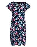 myOwn by Adler Mode Damen Kleid mit kurzen Cape-Ärmeln - Fummel, Robe, Abendkleid, Stoffkleid Marine/Rosa/Türkis/Weiß 36