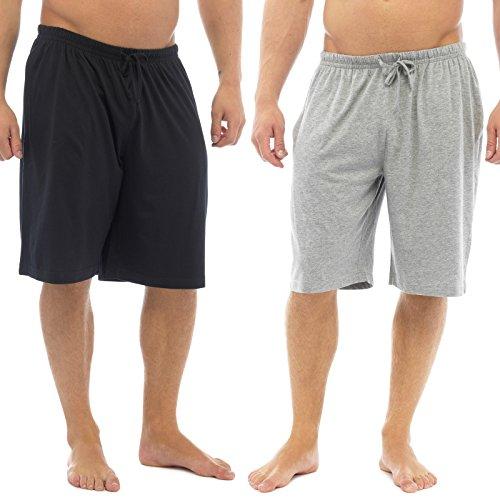 Uomo Pacco Doppio Pantaloncini Corti Tempo Libero Jersey Elasticizzato Per dormire Abbigliamento Notte pigiama Pantaloni - cotone, Multicolore, 100% cotone, Uomo, L