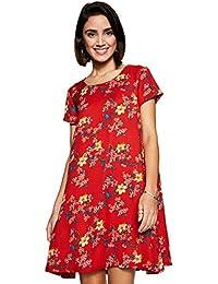Amazon Brand - Eden & Ivy Women's Floral A-Line Cap Sleeve Dress