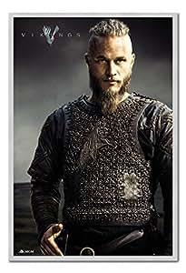 Vikings TV Show RAGNAR Anton kittil lothbrok Poster Tableau mémo en liège broches Argent encadrée–96,5x 66cm (environ 96,5x 66cm)