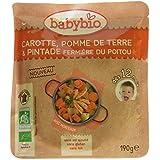 Babybio Sachet Carotte Pomme de Terre/Pintade Fermière du Poitou 190 g -