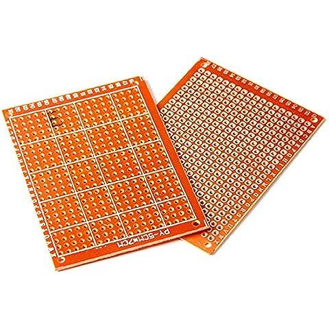 Placas Circuito - SODIAL(R)20pcs Soldadura Terminado PCB Prototipo Para Placas Circuito DIY 5x7cm
