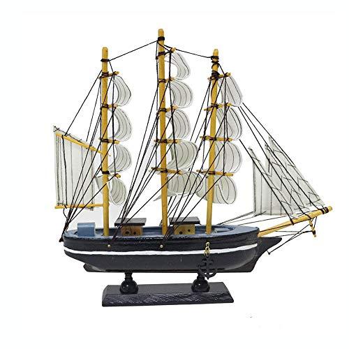 Guvd Modello di Nave a Vela in Legno, utilizzato per Ornamento da Tavolo, Puntelli per Foto, Festa a Tema Beach Ocean e Decorazione della Stanza