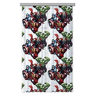 AG Design Avengers Marvel Kinderzimmer Gardine/Vorhang, 1 Teil Stoff Multicolor 140 x 245 cm