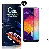 Panzerglas Schutzfolie für Galaxy A50, SONWO 2.5D Double Defense Displayschutzfolie für Samsung Galaxy A50, Kratzfest, Anti-Fingerprint, 1 Stück