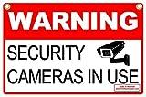 Signes R Us avertissement Caméras de sécurité en Utilisation 30,5x 45,7cm ondulé plaque en métal W/Piquet