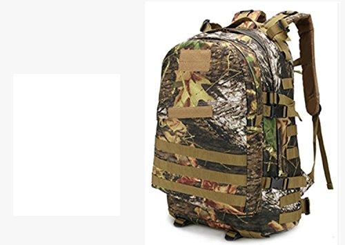 LWJgsa Outdoor - Fan Packt Camouflage - Taktik Rucksack Tour Camping Spezialeinheiten In Der Tasche dschungel - ruinen
