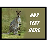 Kangaroo And Baby Personalised Dinner Table Placemat