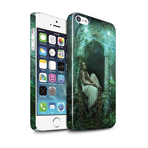 Officiel Elena Dudina Coque / Clipser Brillant Etui pour Apple iPhone 5/5S / Cheveux Dorés Design / Caractère Conte Fées Collection Cheveux Dorés
