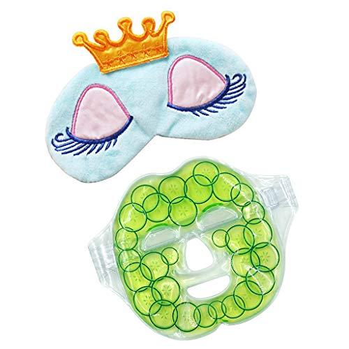 FLAMEER Microwavable Wiederverwendbare Gesichtsmaske Gel Heat Cold Pack + Schlafaugen Augenbinde - Microwavable Heat Pack