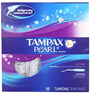 Tampax Tampax Pearl Plastic Tampons Ultra Absorbency Unscented, Unscented 18 each