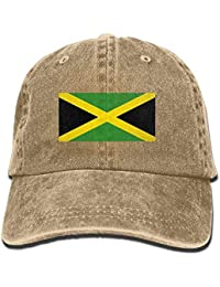 Men Women Classic Denim Jamaican Flag Adjustable Baseball cap Dad Hat Low  Profile Outdoor 23fee38ac474