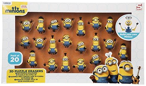 SAMBRO min3 - 6172 Minion 3d Puzzle eraser in window box (Pack of 20)