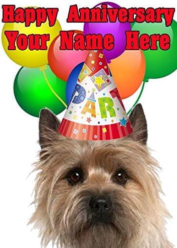 Cairn terrier Joyeux anniversaire de carte Codectr personnalisé carte de vœux | Belle