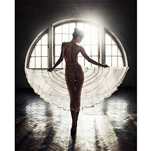 CYANDJ mädchen Kunst malerei Ballett Tanz leinwand Poster und drucke Wohnzimmer wandbild Kunstwerk Bild Dekoration EIN kein Rahmen 50x70cm(20x28inch
