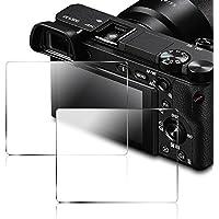 Protecteur d'écran pour Sony DSLR Alpha Nex-7 NEX-6 NEX-5 A6000 A6300 A5000 Caméra, AFUNTA en Verre Trempé 9H Cover (Pack 2)
