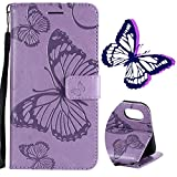 Pour iPhone XS Max Portefeuille Coque, motif papillon, Sibytech Cuir PU TPU...