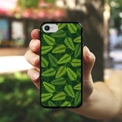 Apple iPhone X Silikon Hülle Case Schutzhülle Palme Pflanzen dschungel Hard Case schwarz