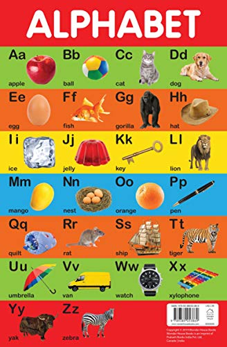 Alphabet Chart - Early Learning Educational Chart For Kids: Perfect For Homeschooling, Kindergarten and Nursery Students (11.5 Inches X 17.5 Inches)