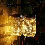 Lumière LED, Ulanda-eu LED Guirlande lumineuse Fonctionne à l'énergie solaire pour bocal Couvercle Insert Décor de jardin à changement de couleur jaune, lampe Déco utilisé pour Noël, mariage, arbre de Noël, fête