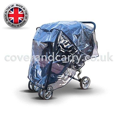 Regenschutz für Twin Baby Jogger City Mini Double Serie, hergestellt in Großbritannien aus superweichem PVC - Mini Double Jogger City