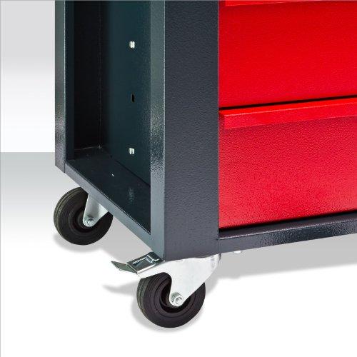 Werkstattwagen Michael 4+2 rot grau Werkzeugwagen Werkstatt zur Auswahl - 6