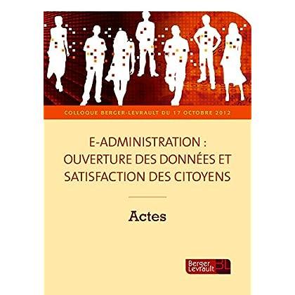 E-administration : ouverture des données et satisfaction des citoyens