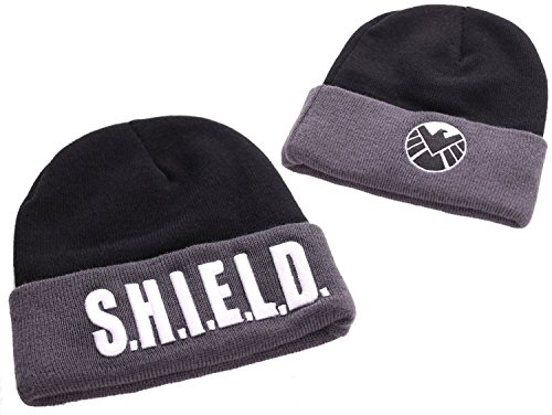 Marvel Comics Beanie Captain America Shield Text Codi