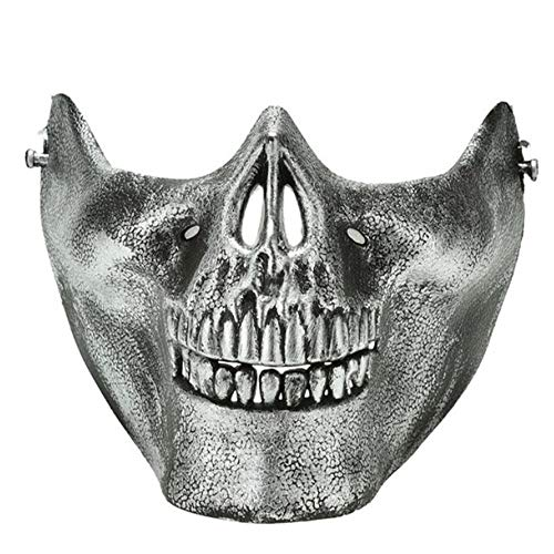 WHFDRHWSJMJ Halloween Maske LED Light Horror Maske Latex 1 PC Scary Schädel Skeleton Maske Halloween Kostüm Halbe Gesichtsmasken Für Party, D