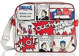 Lonsdale London Tasche Börse Shoulderbag Comic, off white, 38 X 13 X 30 cm, 111211