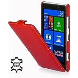 StilGut Ultraslim Case, Tasche aus Leder für Nokia Lumia 820, Rot