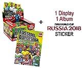 Panini WM 2018 + Bundesliga 2015/16 - Sticker - 2 Display (150 Tüten) + 2 Alben