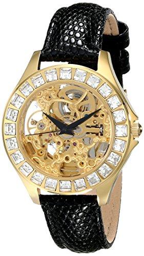 Burgmeister BM520-202 - Reloj analógico automático para mujer con correa de piel, color blanco
