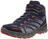 Lowa Herren Aerox GTX Mid Trekking-& Wanderstiefel, blau/rot, 44 EU