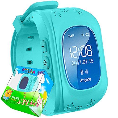 TURNMEON GPS Smart Watch Kid Safe pour smart Montre bracelet SOS Appel Location Finder Locator Tracker for Child Anti Perdu Moniteur pour enfant (bleu)