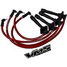 93–97VMS Racing 10,2mm de alto rendimiento motor encendido Bujías Cables Alambre Set en rojo para Toyota Corolla 939495969719931994199519961997