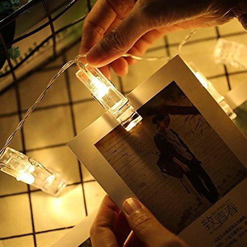 Dricar LED Foto Clips Lichterkette, 40 Fotos Clips ...
