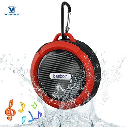 VICTORSTAR@ Bluetooth Senza fili 3.0 Impermeabile All'aperto & Altoparlante Doccia con 5W Altoparlante / Aspirazione Tazza / Mic / Mani Libere Altoparlante (Rosso)