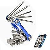 11 in 1 Multi-Funktions-Fahrrad-Reparatur-Werkzeug-Kit HLTD Folding Fahrrad Wartung Multi Tool Hex Steckschlüssel Schlüssel Schraubendreher-Set