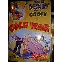 Targa Pubblicitaria Walt Disney PIPPO GOOFY COLD WAR Collezione Targhe