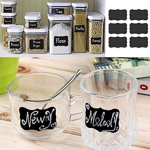 artistic9(TM) Tafel Aufkleber Craft Candy Jar Organizer Etiketten für Dekorieren Ihre Küche Flaschen & Hochzeit Beers, Party, Weihnachten,, und mehr, PVC, balck, 1 Set of 36pcs (Jar-tafel-etiketten)