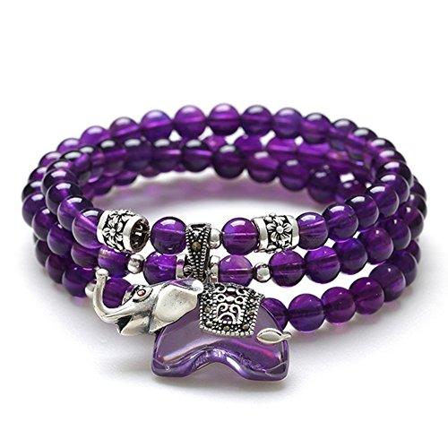 Bracelet améthyste/ multi-bijoux/Bracelets de cristal naturels douces/ bijoux D
