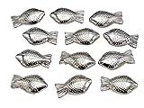 50 Fische Silber Kommunion Konfirmation Taufe Streudeko Tischdeko Basteln Gastgeschenke