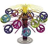 Décoration de Table Hippie Cascade Années 70 Déco Centre de Table Fête Seventies Fluo Thème Soirée Peace 60s