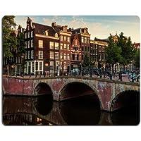 Biciclette Ponti in Europa Amsterdam Città Mouse Pad personalizzato, per sostegno Ready 97/8inch (250mm) X 7/8(200mm) X 1/16