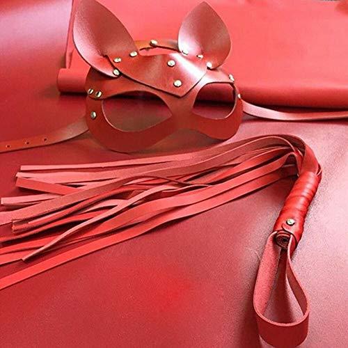VAWAA Cosplay Sexy Katze Maske Frauen Mädchen Party Kostüm PVC Bondage Masken Erwachsene Spielen Spezielle Katze Ohren Verstellbare Design Masken