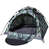 IRIS Instant Pop Up Camoflauge Tents, 4 Person Automatic Hydraulic Family Tents, Waterproof